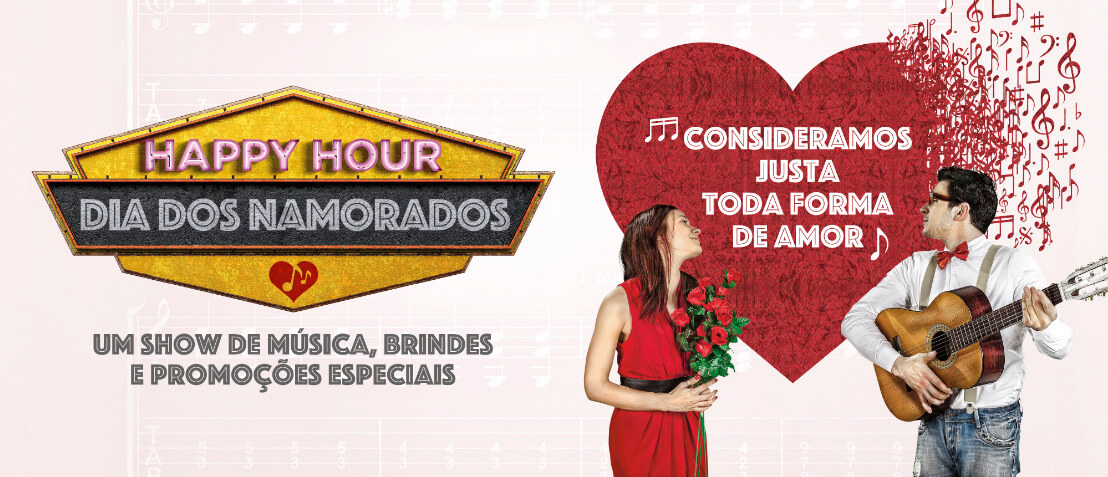 Happy Hour especial Namorados